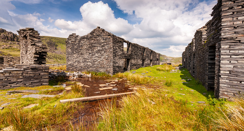 Derelict mine buildings in Snowdonia