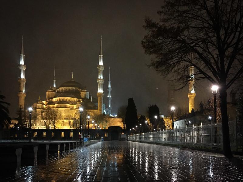 Snowy Blue Mosque