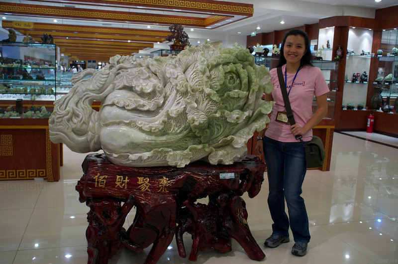 a giant jade cabbage...we saw a lot of cabbage carvings on the trip