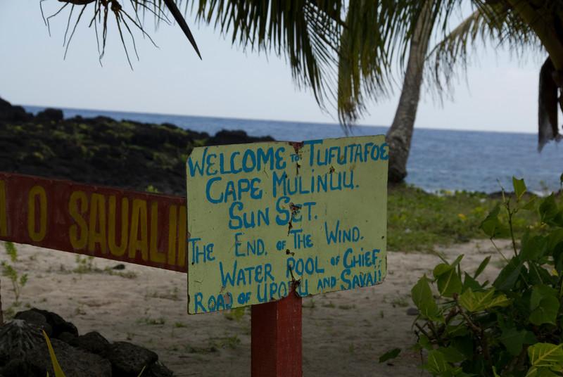 Cape Mulinuu Sign