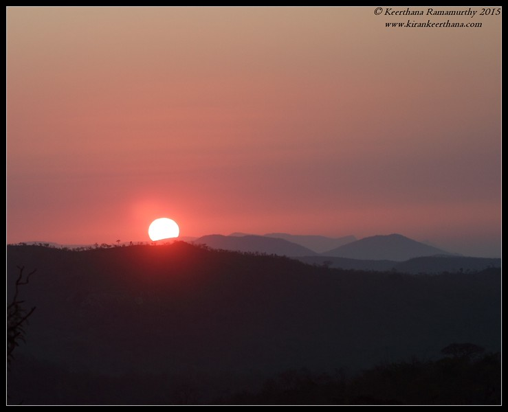 Sunrise, Bandipur, Karnataka, February 2015