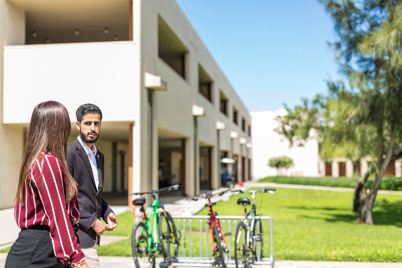 TAMU-CC students walking around campus