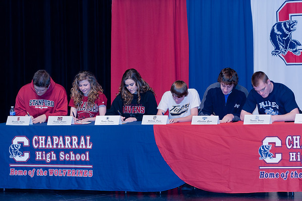 Spring - Chaparral Athletes Sign Letters of Intent