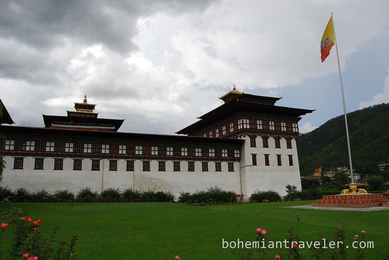 Tashichho Dzong in Thimphu Bhutan.jpg