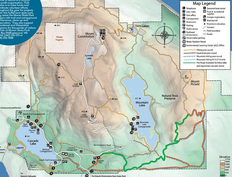 Moran State Park (Trail Map)