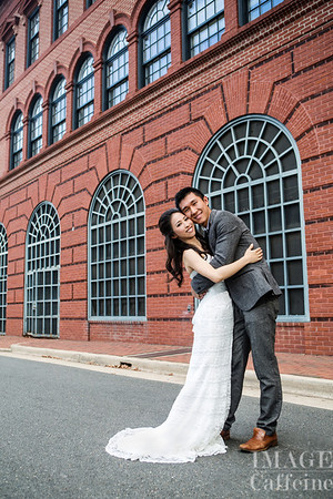 Cynthia and Jack's wedding photo portrait, Oldtown Alexandria, August, 2013