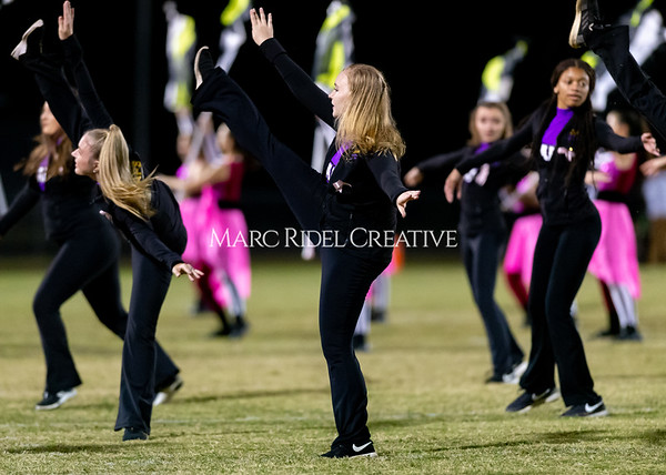 Broughton varsity football vs Cardinal Gibbons. Band and Dance Team Senior Night. October 25, 2019. D4S_1877