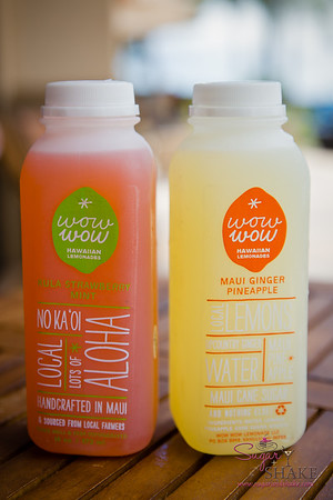 "A ""new discovery"" for us: Wow Wow Lemonade (Maui-made, with local ingredients). © 2015 Sugar + Shake"
