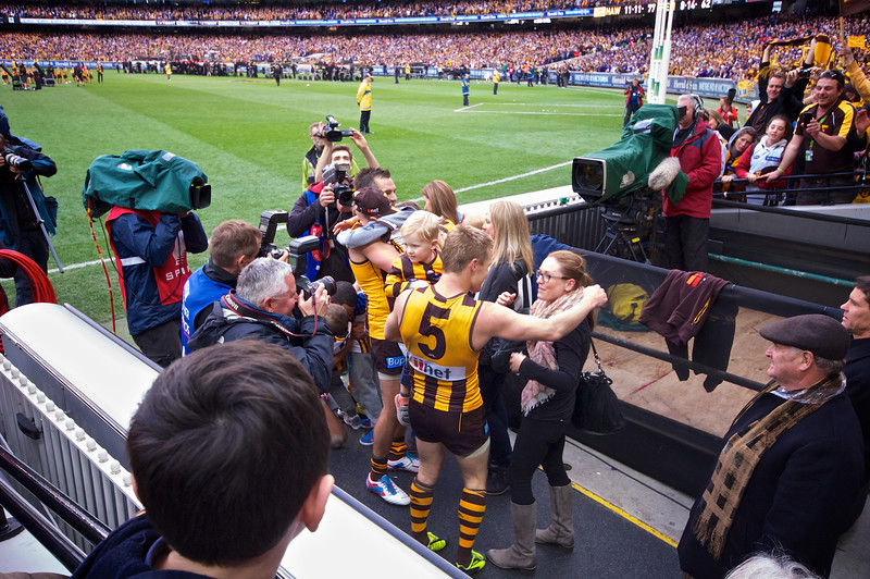 Sam Mitchell meets his family