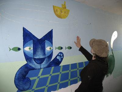 Bomb Shelter Mural, Tsfat, Israel