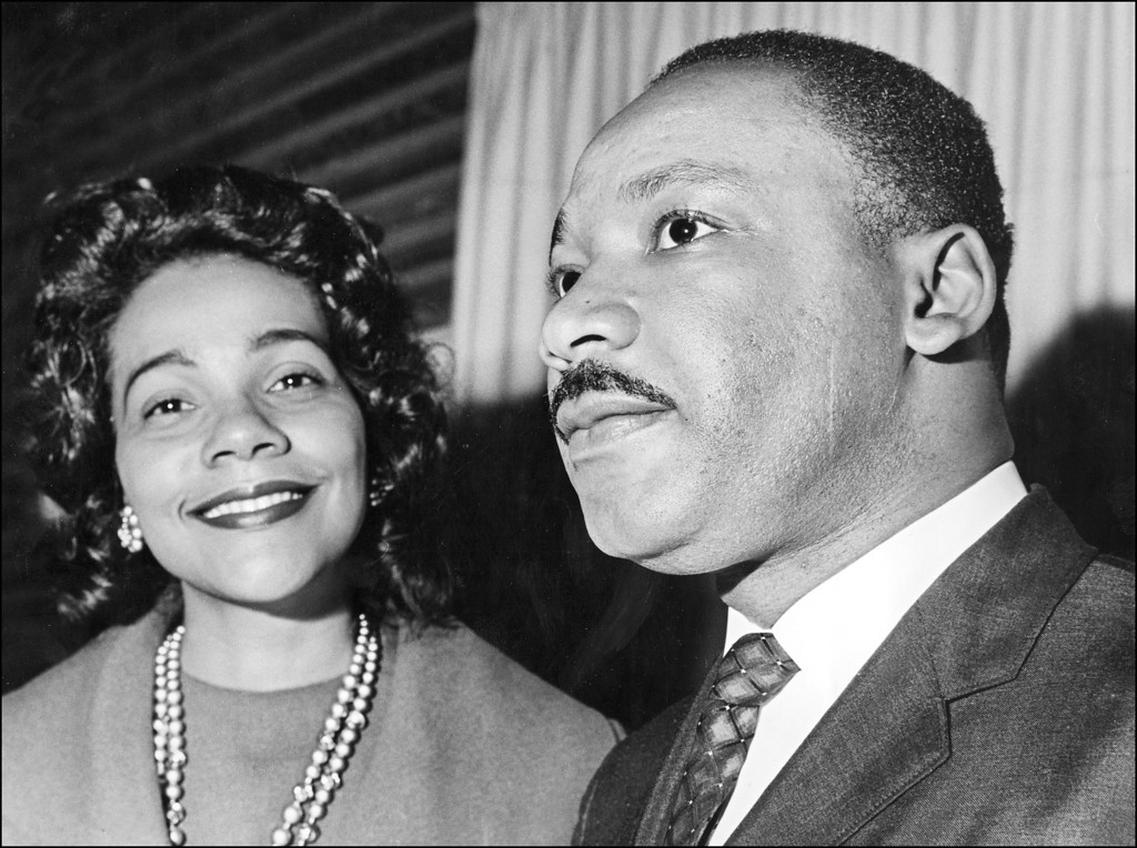 . Coretta Scott King and her husband Martin Luther King 09 December 1964 in Oslo where the US clergyman and civil rights leader received 10 December the Nobel Peace Prize. Martin Luther King was assassinated on 04 April 1968 in Memphis, Tennessee. James Earl Ray confessed to shooting King and was sentenced to 99 years in prison. King\'s killing sent shock waves through American society at the time, and is still regarded as a landmark event in recent US history. (Photo credit should read AFP/Getty Images)