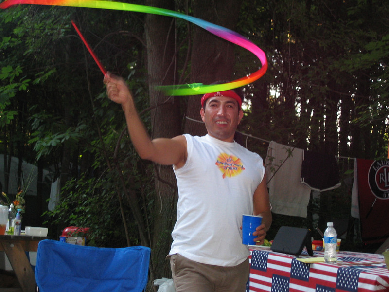 Ricardo and his pride ribbon.JPG