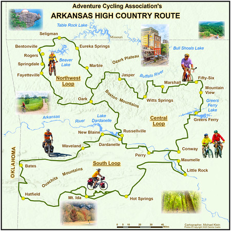 Map -- Adventure Cycling's 'Arkansas High Country Route'