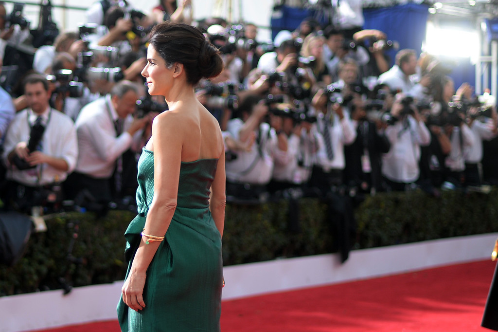 . Sandra Bullock on the red carpet at the 20th Annual Screen Actors Guild Awards  at the Shrine Auditorium in Los Angeles, California on Saturday January 18, 2014 (Photo by Hans Gutknecht / Los Angeles Daily News)