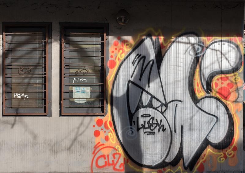 Graffiti - Porta San Pietro, Reggio Emilia, Italy - December 26, 2016