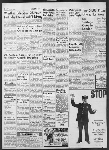 Daily Trojan, Vol. 43, No. 73, February 12, 1952