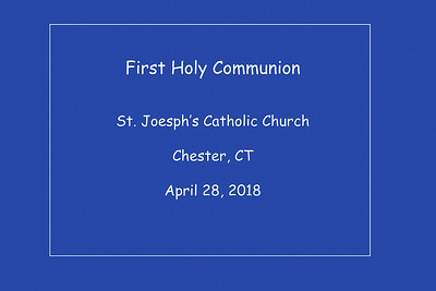 1st Communion St. Joseph's Church 4-28-2018