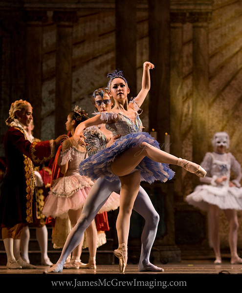OBT's Lucas Threefoot and Ansa Deguchi in rehearsal for The Sleeping Beauty.