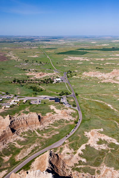 visitor center National Badlands Park from the air -3349.jpg