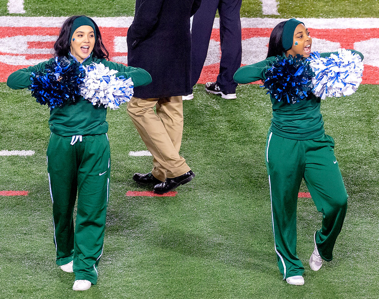 Two of Tulane's cheerleaders