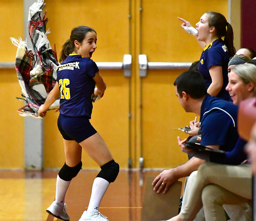 11/14/2018 Mike Orazzi | Staff Woodstock Academy's Marta CuencaSabuco (26) during the Class L Semifinal State Girls Volleyball Tournament with Bristol Eastern held at Windsor High School Wednesday night.