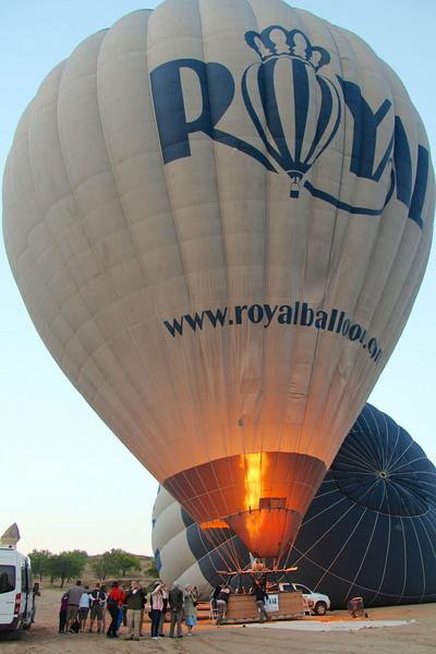 We begin our Hot Air Balloon ride over Cappadocia!