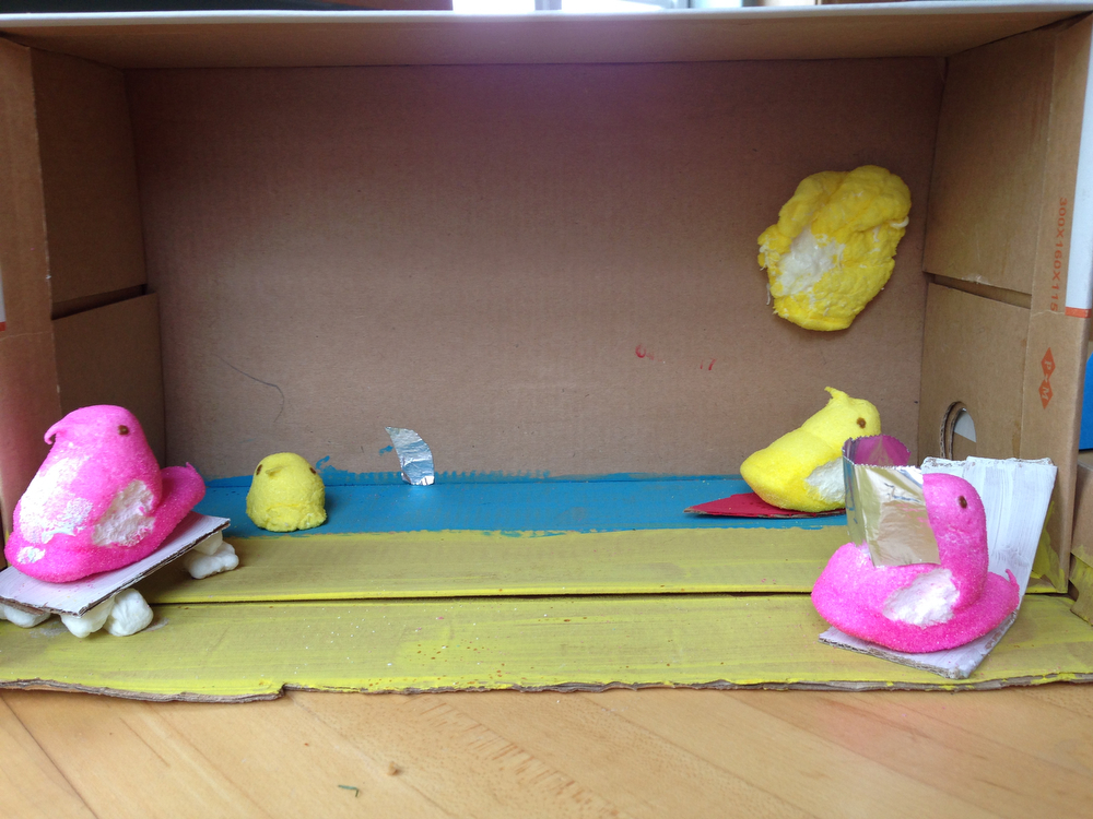 . Title: Peeps on the Beach (Lucy Finnigan, age 11)