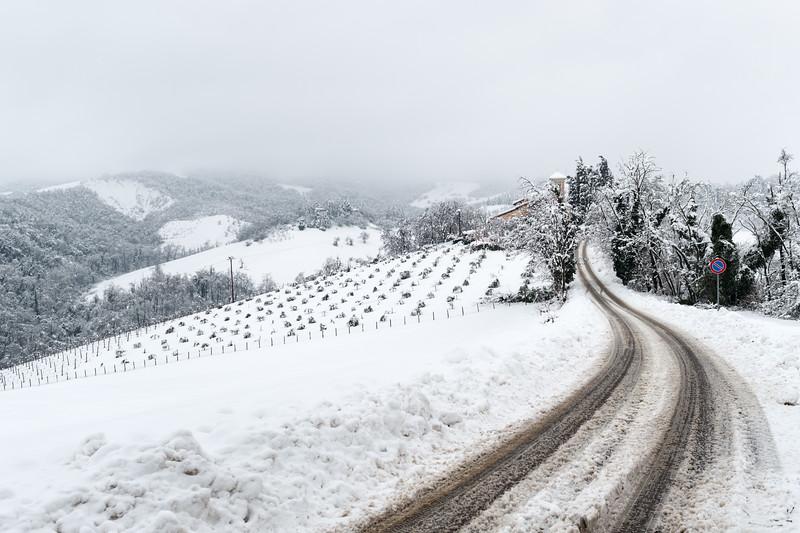 Big Snow - Madonna dell'Uliveto, Albinea, Reggio Emilia, Italy - February 6, 2015