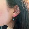 4.20ctw Blue Zircon Dangle Earrings 15