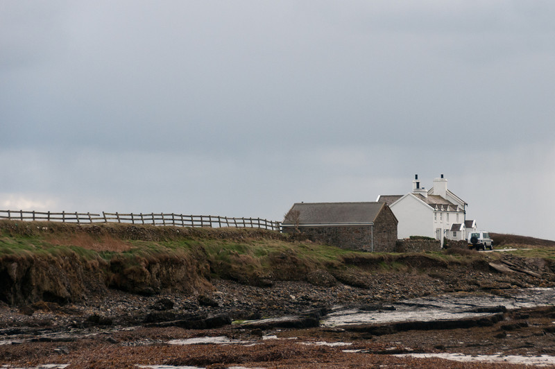 House near the cliff in Isle of Man