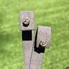 .91ctw Old European Cut Diamond Clover Earrings 3