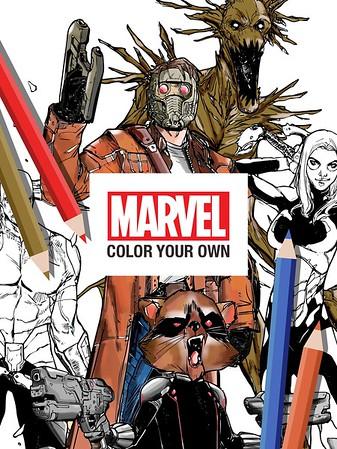 Marvel Color Your Own allows you to create your own style to the Marvel Universe