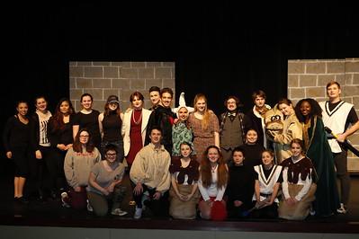 "High School Theatre - 2/8/2017 ""The Clumsy Custard Horror Show"" Dress Rehearsal"