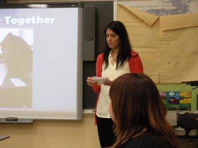 Shirene's Master's degree presentation class of 2013
