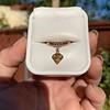 .84ct Fancy Deep Orange-Yellow Shield Shape Diamond Charm Ring 11