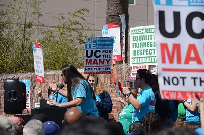 Bernie at UCLA Workers Strike