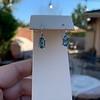 4.20ctw Blue Zircon Dangle Earrings 12