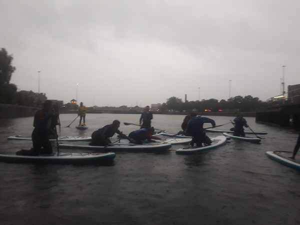 Very rainy taster session. 31st October. Becca and Julia