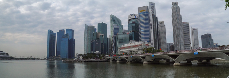 Panorama of downtown Singapore