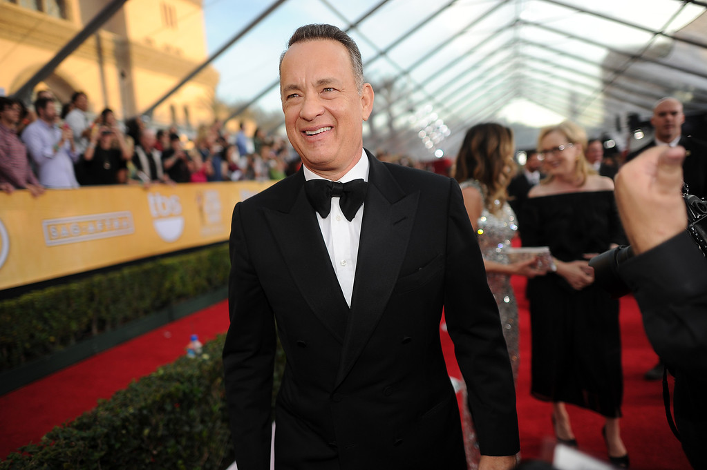 . Tom Hanks  on the red carpet at the 20th Annual Screen Actors Guild Awards  at the Shrine Auditorium in Los Angeles, California on Saturday January 18, 2014 (Photo by Hans Gutknecht / Los Angeles Daily News)