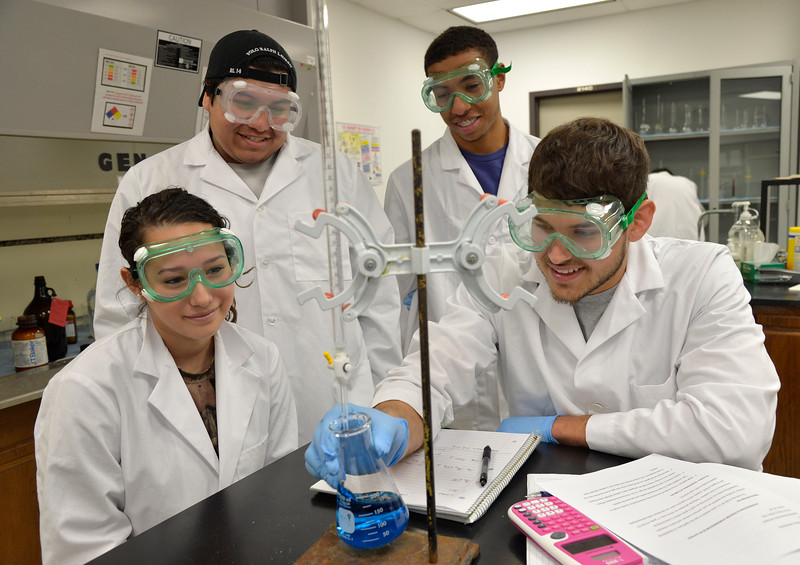 Students follow lab procedures titrating to fine the standardization of NaOH and HCl. (lab name : An introduction to titration: standardization of NaOH and HCl.)