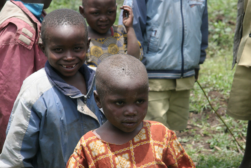 The beautiful children who greeted us as we came back down.