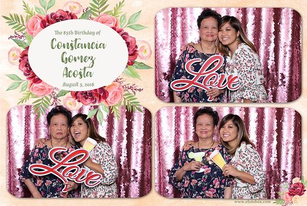 Constancia's 85th Birthday