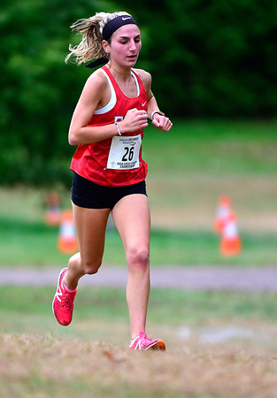 10/16/2019 Mike Orazzi | Staff Berlin High School's Juliana Cancellieri during the girls CCC XC Championship held at Wickham Park in Manchester on Wednesday.