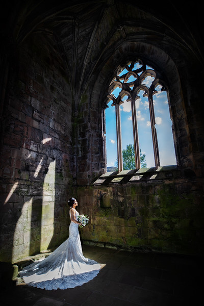 Melrose Abbey Wedding Photo