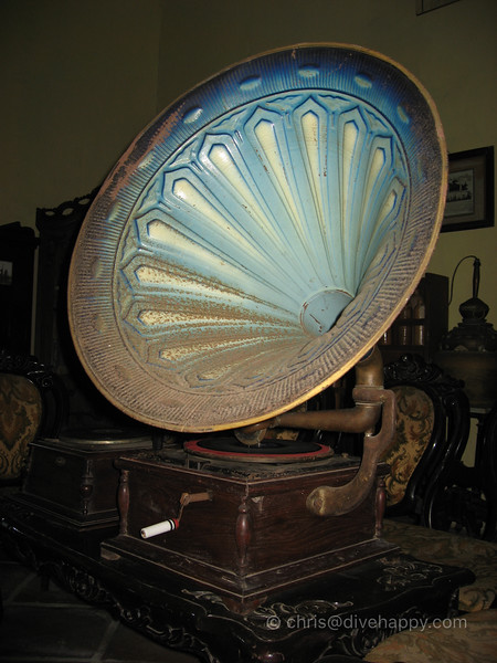 Antique Gramophone In The Banda Museum: It Still Works! © Chris Mitchell