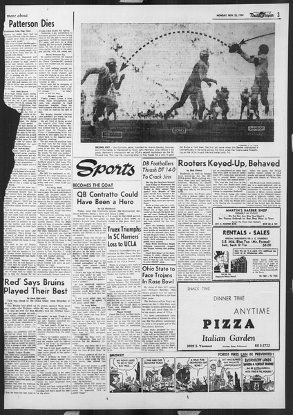 Daily Trojan, Vol. 46, No. 47, November 22, 1954