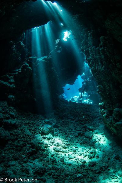 Cavern with Sunbeams