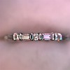 1.10ctw Round and Baguette Diamond Eternity Band 23