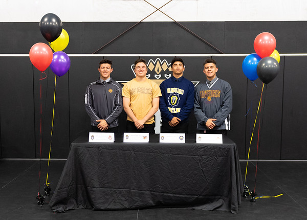 Wrestlers in Signing Day